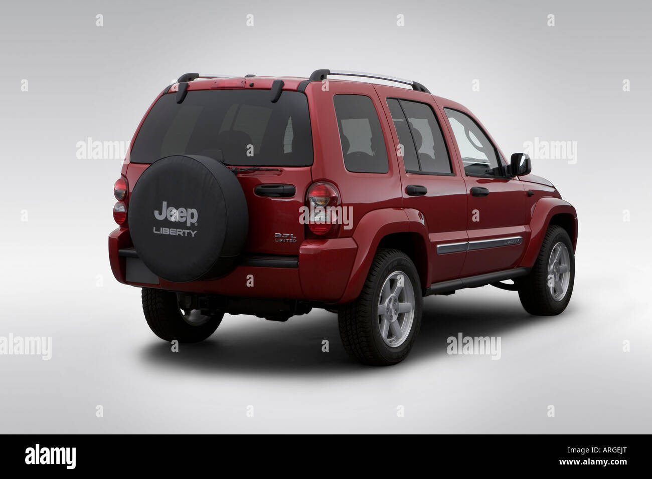 2007 Jeep Liberty Limited In Red   Rear Angle View