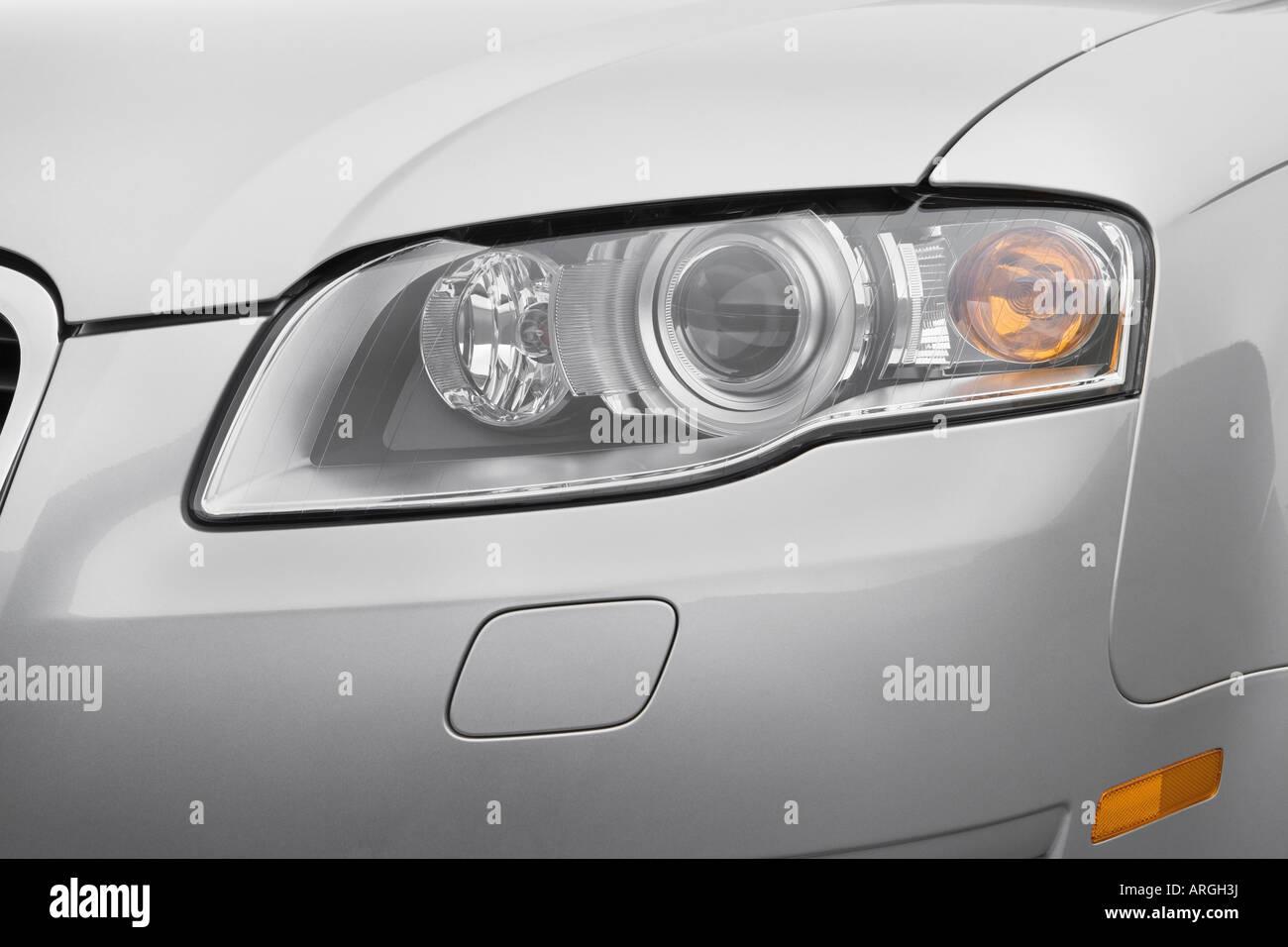Audi A Avant Quattro In Silver Headlight Stock Photo - 2007 audi a4 headlights