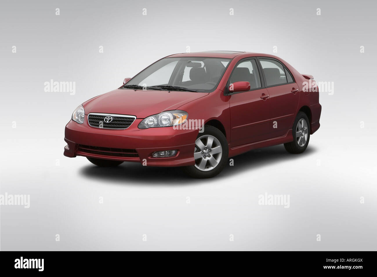 2007 Toyota Corolla S In Red Front Angle View Stock Photo Alamy