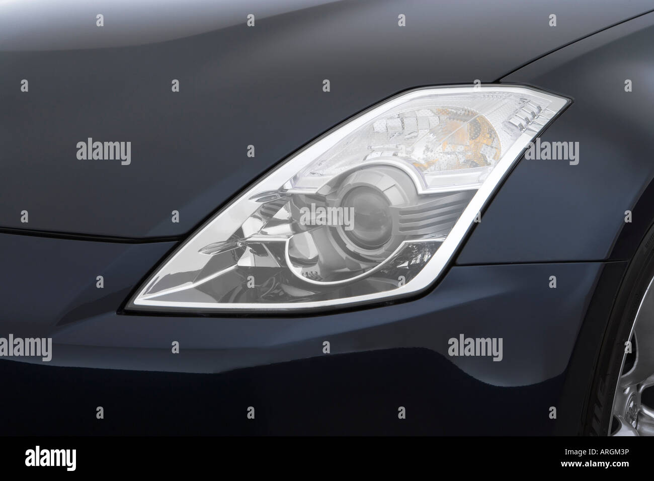 2007 Nissan 350z Roadster Touring In Blue Headlight Stock Photo Alamy