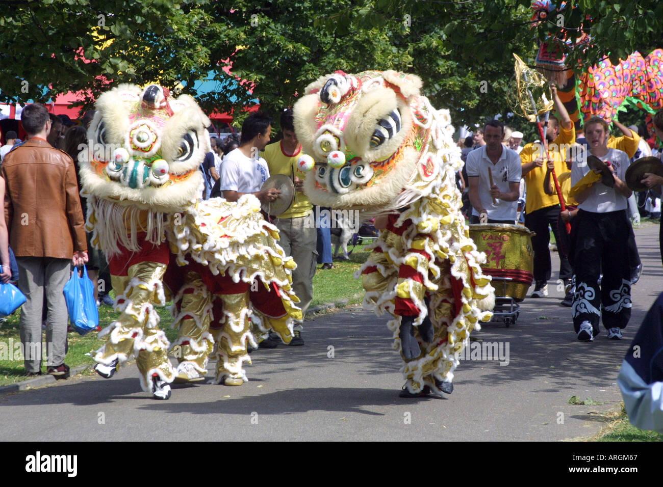 Chinese New Year celebration dragon - Stock Image