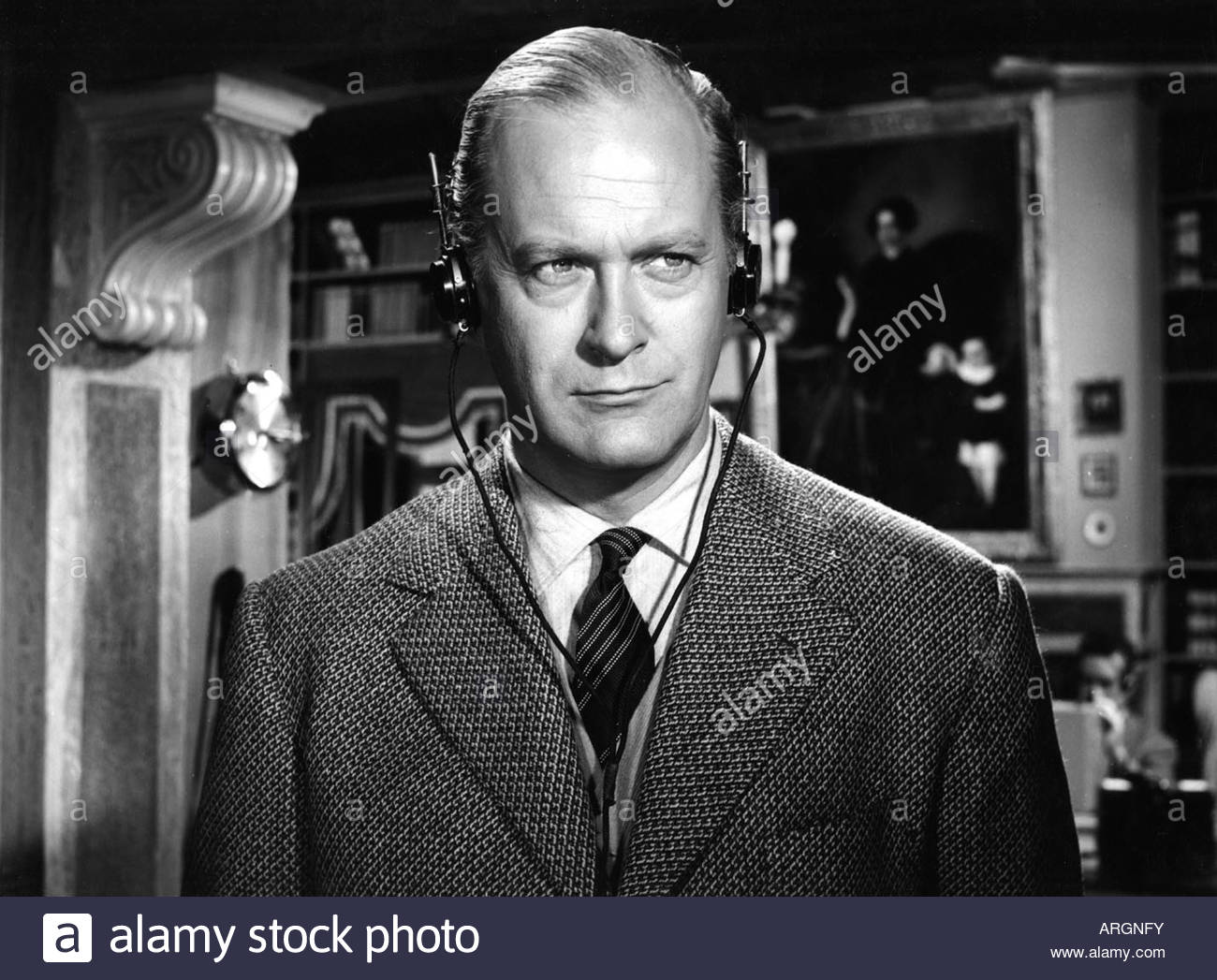 Juergens, Curd, 13.12.1915 - 18.6.1982, German actor, portrait, scene from movie, 'London Calling North Pole' - Stock Image
