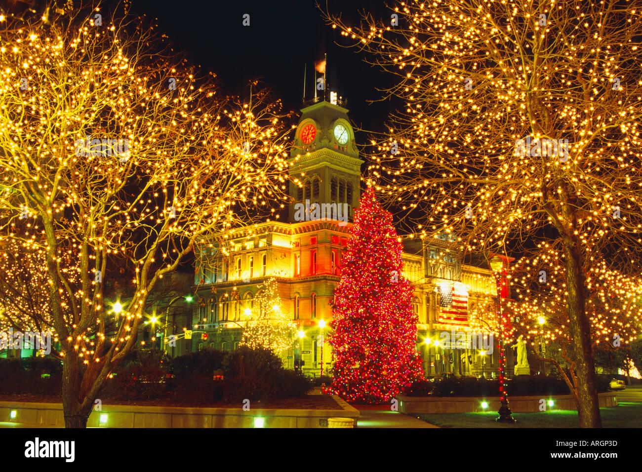 Light Up Louisville Celedration In Downtown Louisville Kentucky