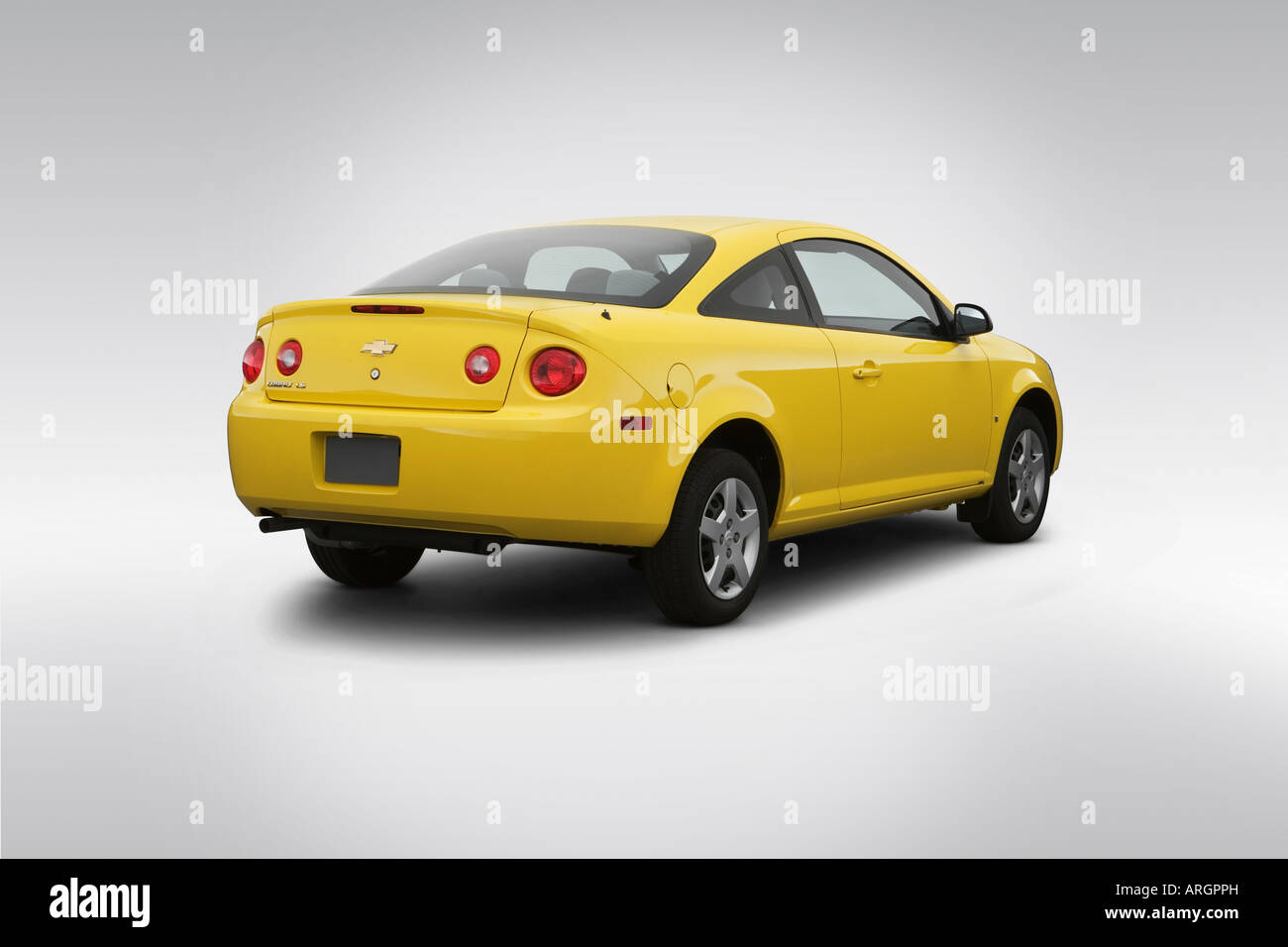2007 Chevrolet Cobalt Ls In Yellow Rear Angle View Stock Photo Alamy