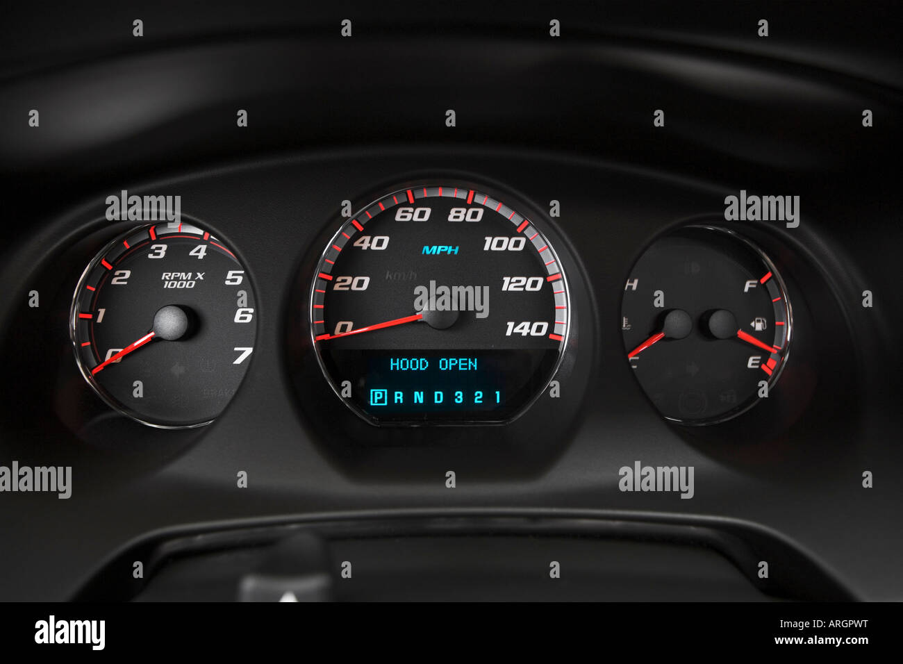 Chevrolet Monte Carlo Ss Stock Photos 2007 Fuel Filter In Black Speedometer Tachometer Image