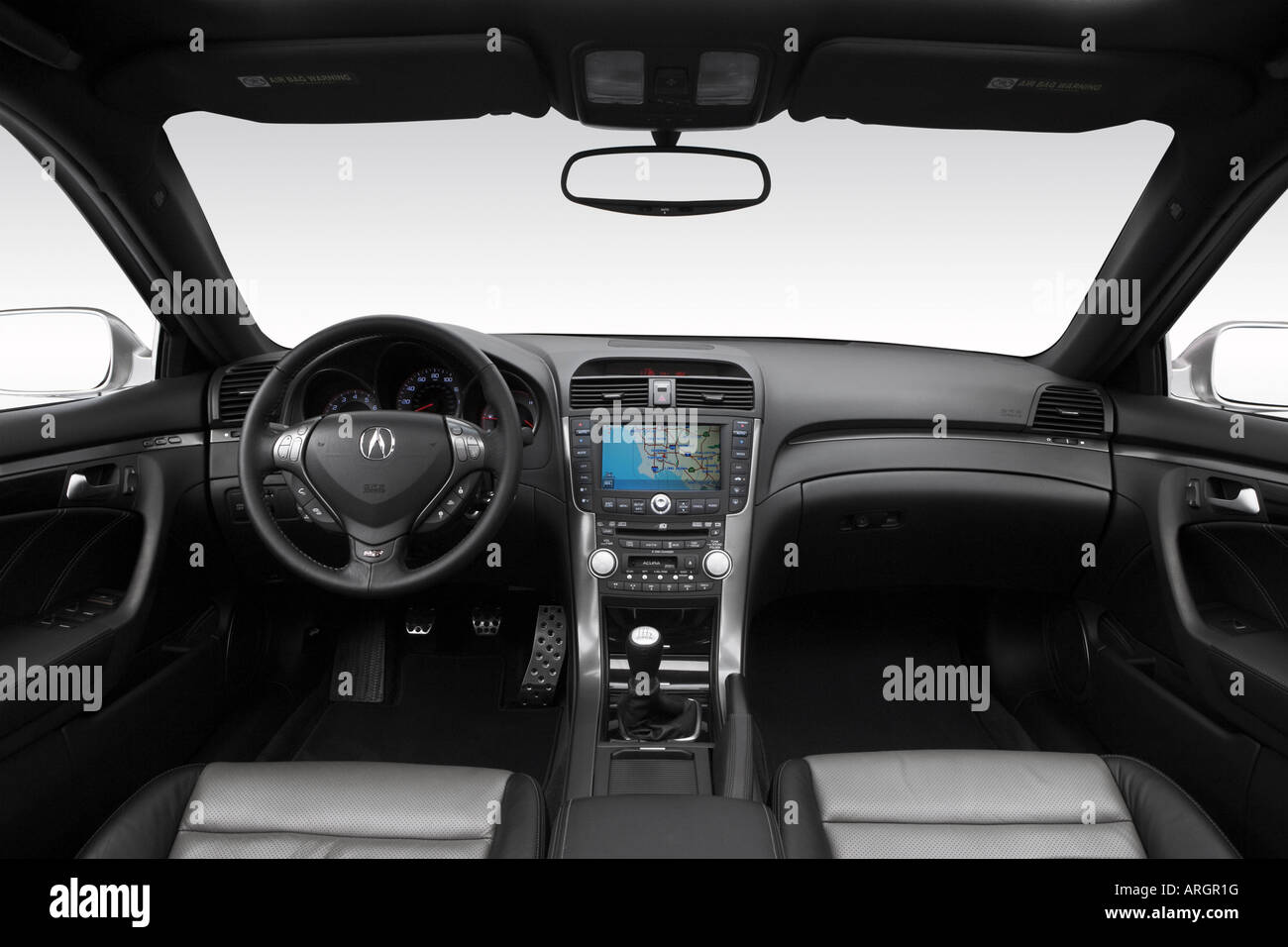 2007 Acura TL Type-S in Silver - Dashboard, center console, gear ...