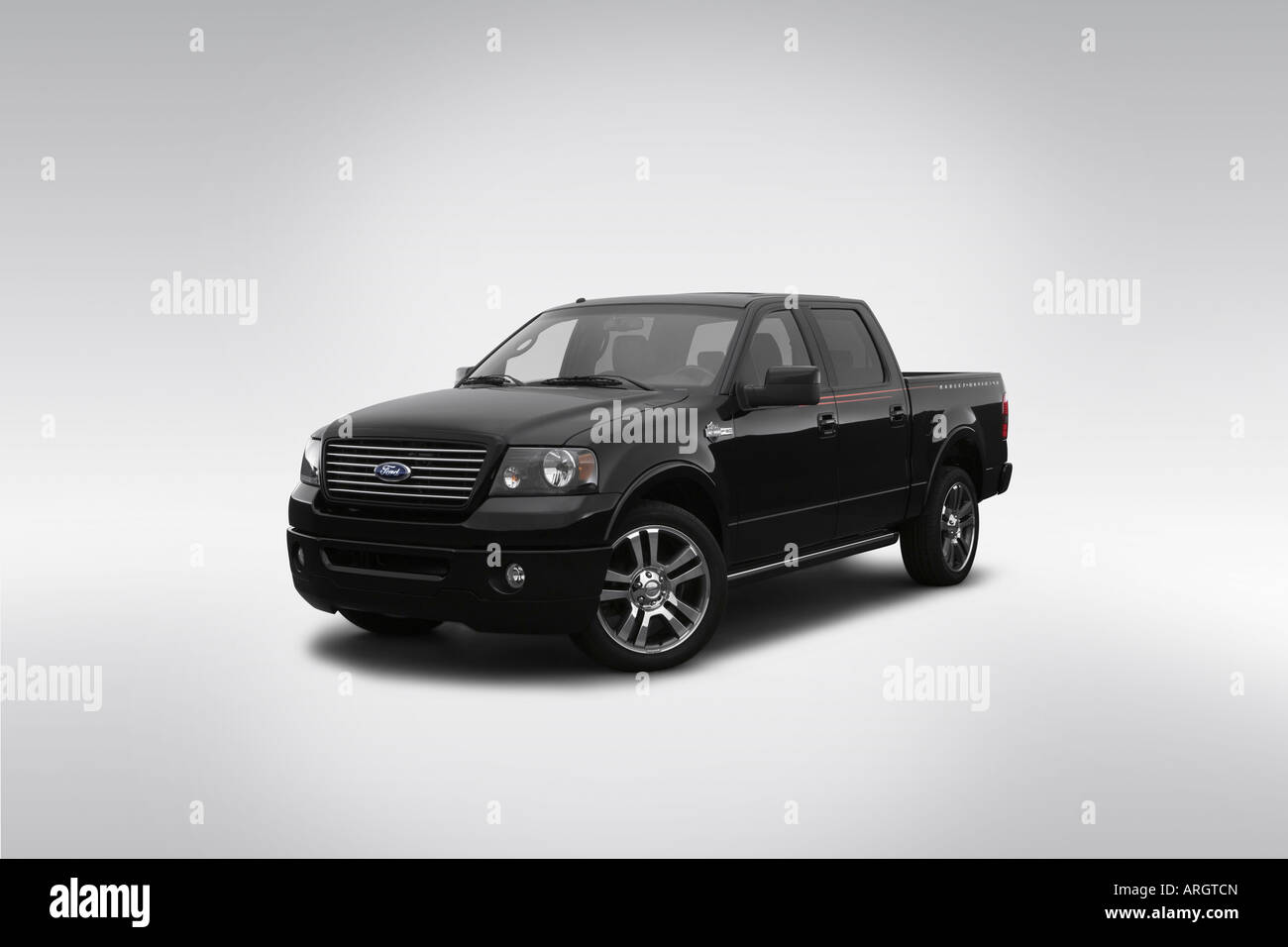 2007 Ford F 150 Harley Davidson In Black Front Angle View Stock F150
