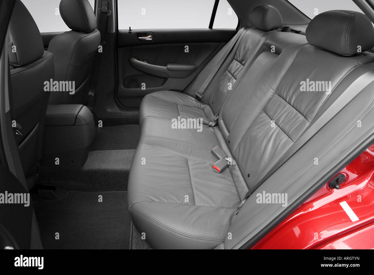 2007 Honda Accord Ex L >> 2007 Honda Accord Ex L In Red Rear Seats Stock Photo