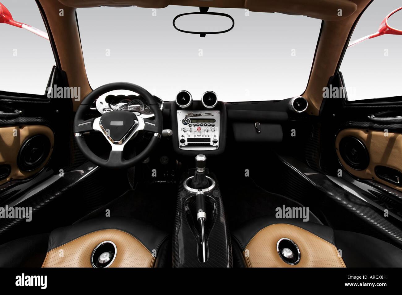 2001 Pagani Zonda S in Red - Dashboard, center console, gear shifter