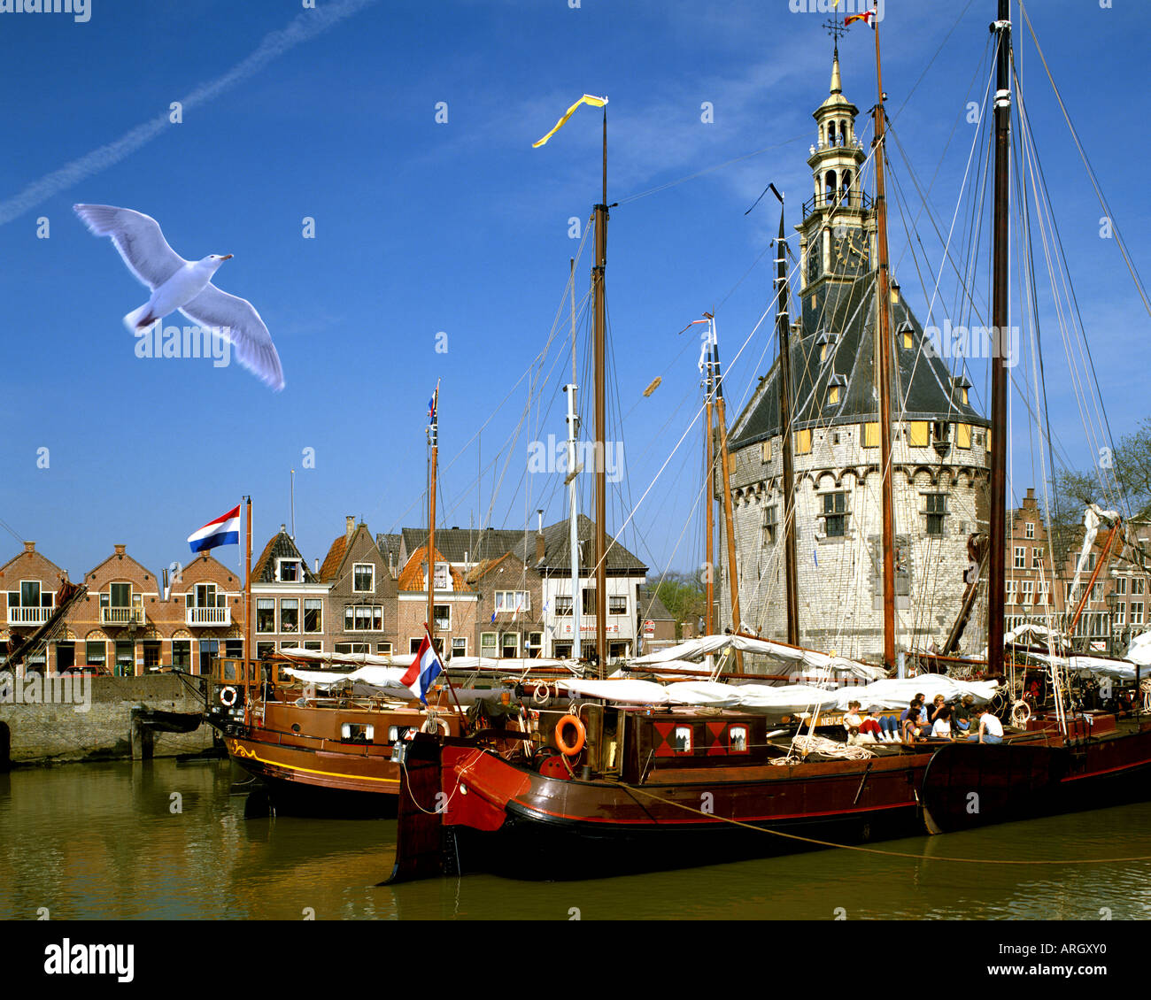 NL - NOORD HOLLAND: Hoorn Harbour - Stock Image