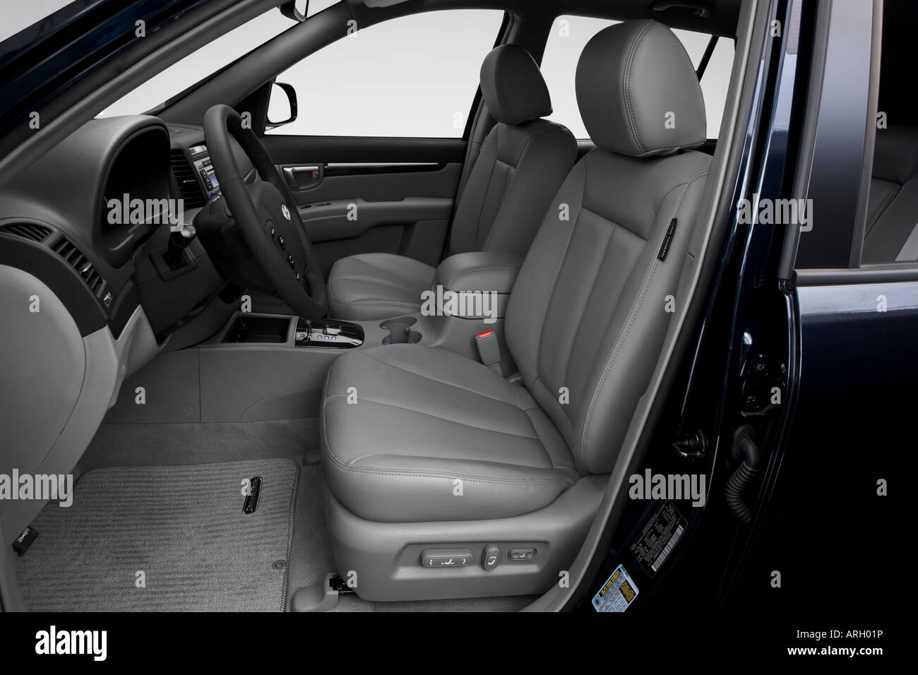 2007 hyundai santa fe limited in blue front seats stock. Black Bedroom Furniture Sets. Home Design Ideas