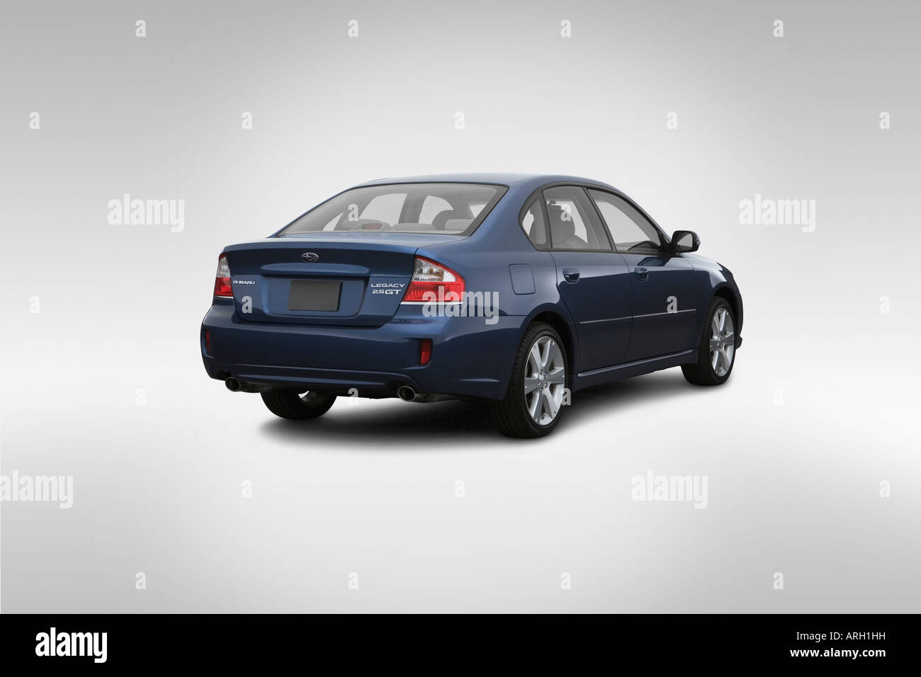 2008 Subaru Legacy 2 5 Gt Limited In Blue Rear Angle View Stock