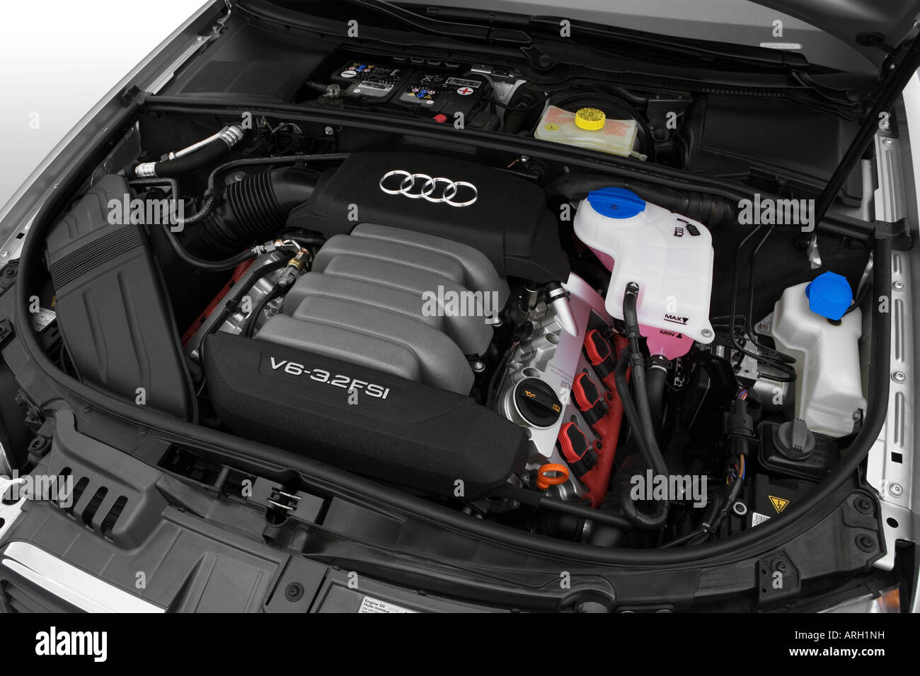 2007 audi a4 avant 3 2 quattro in silver engine stock photo 16053772 alamy. Black Bedroom Furniture Sets. Home Design Ideas
