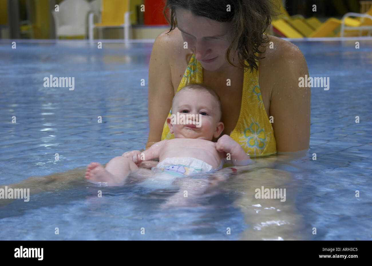 Bath Time Mother And Babies Stock Photos & Bath Time Mother And ...