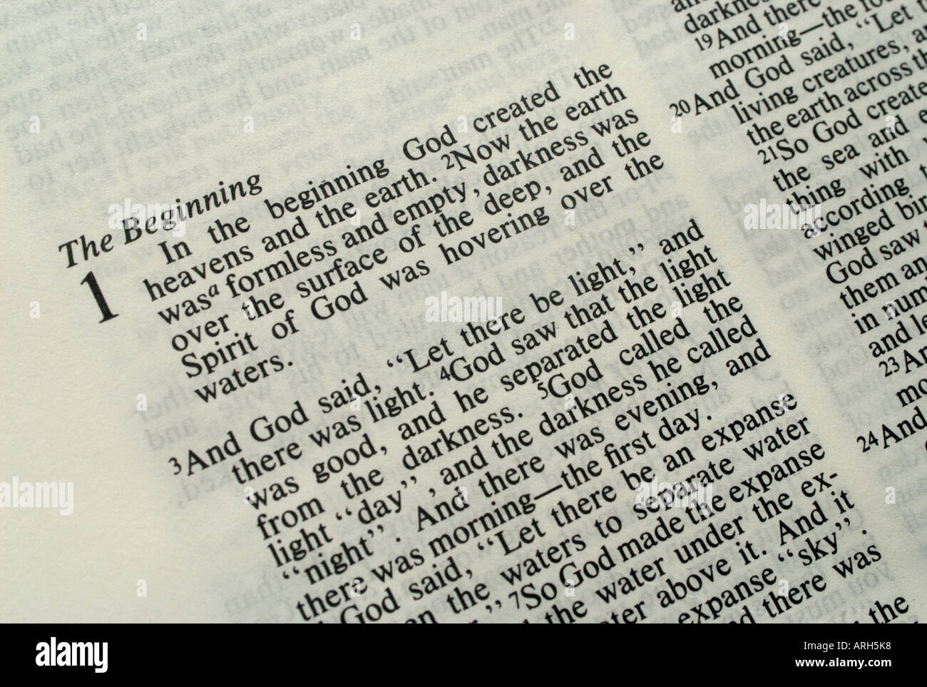 First page of the holy bible. Genesis 1. The Holy Bible ...