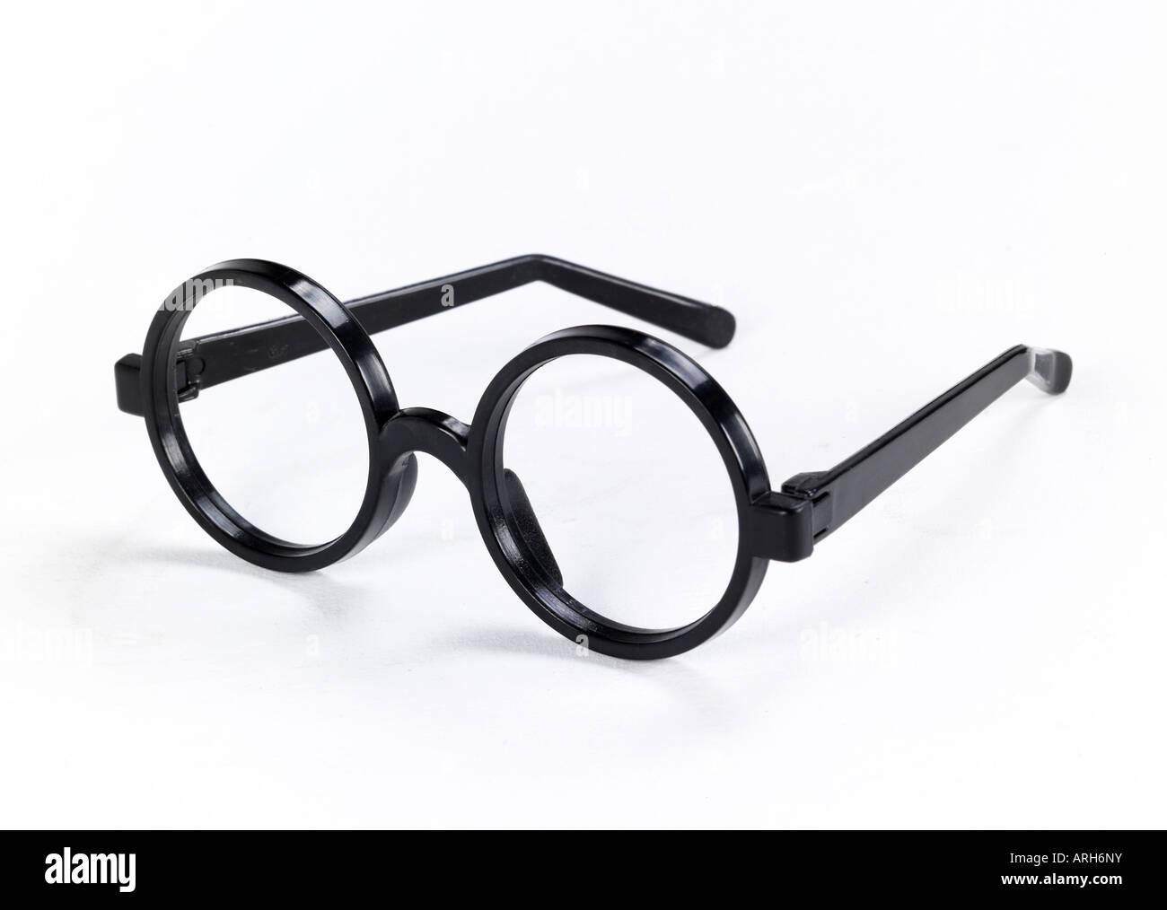 Round Framed Glasses On White Stock Photos & Round Framed Glasses On ...