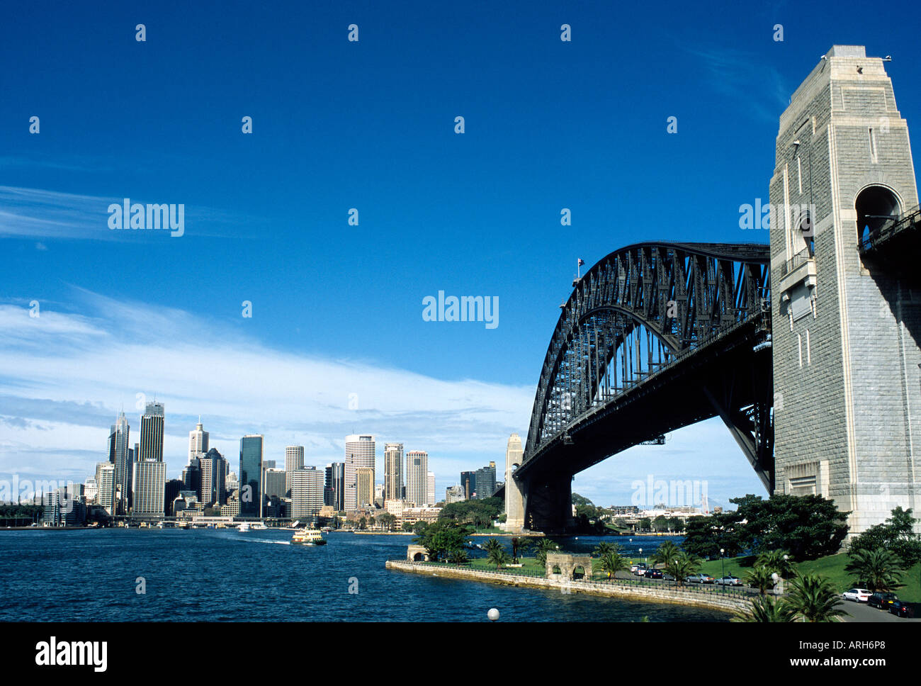 Sydney Harbour City and Bridge - Stock Image