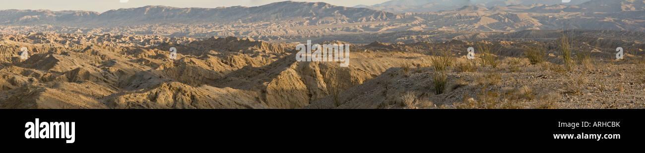 Badlands in the Anza Borrego Desert - Stock Image