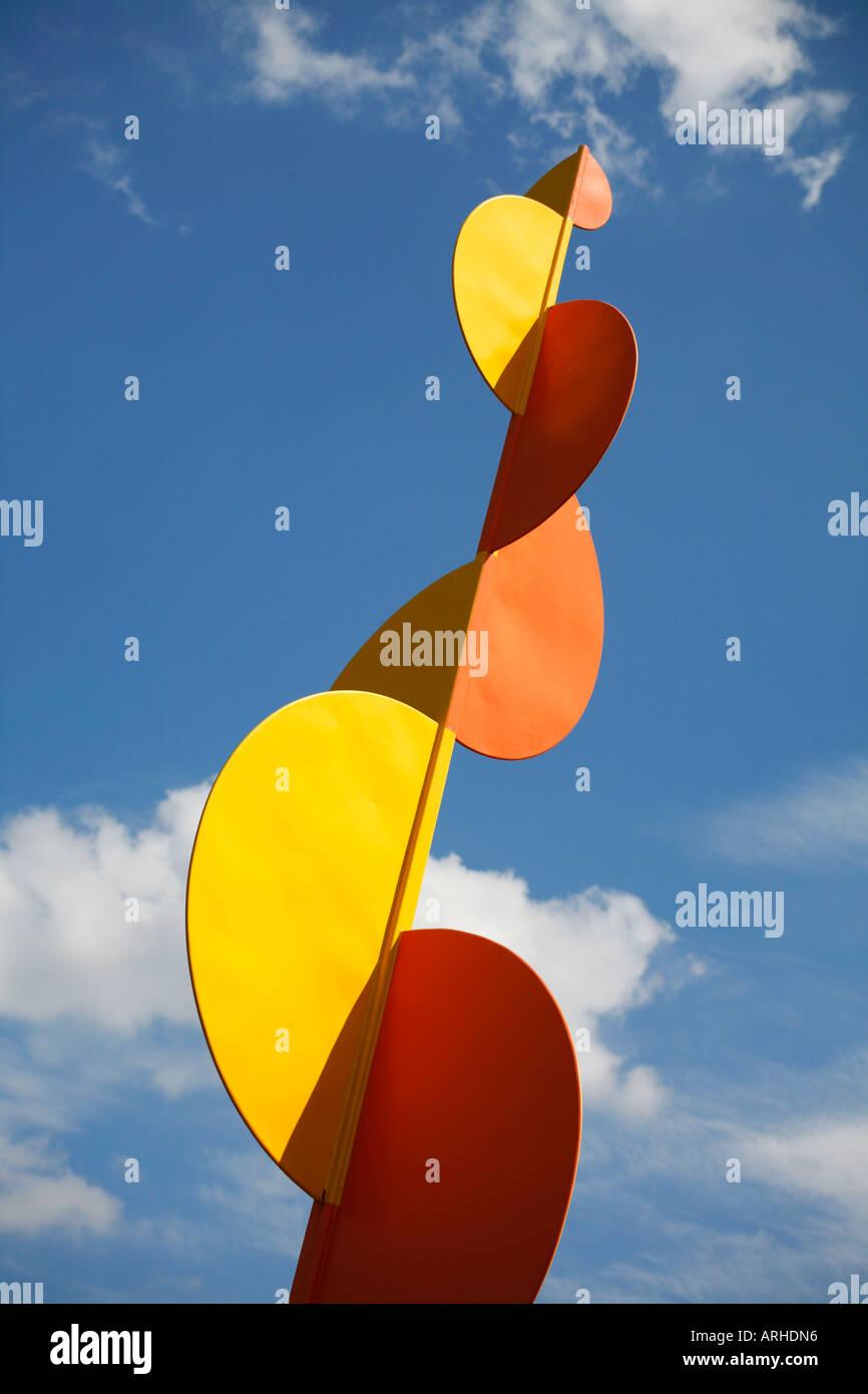 The Four Elements sculpture by Alexander Calder outside the Modern Museum Stockholm Sweden Scandinavia - Stock Image