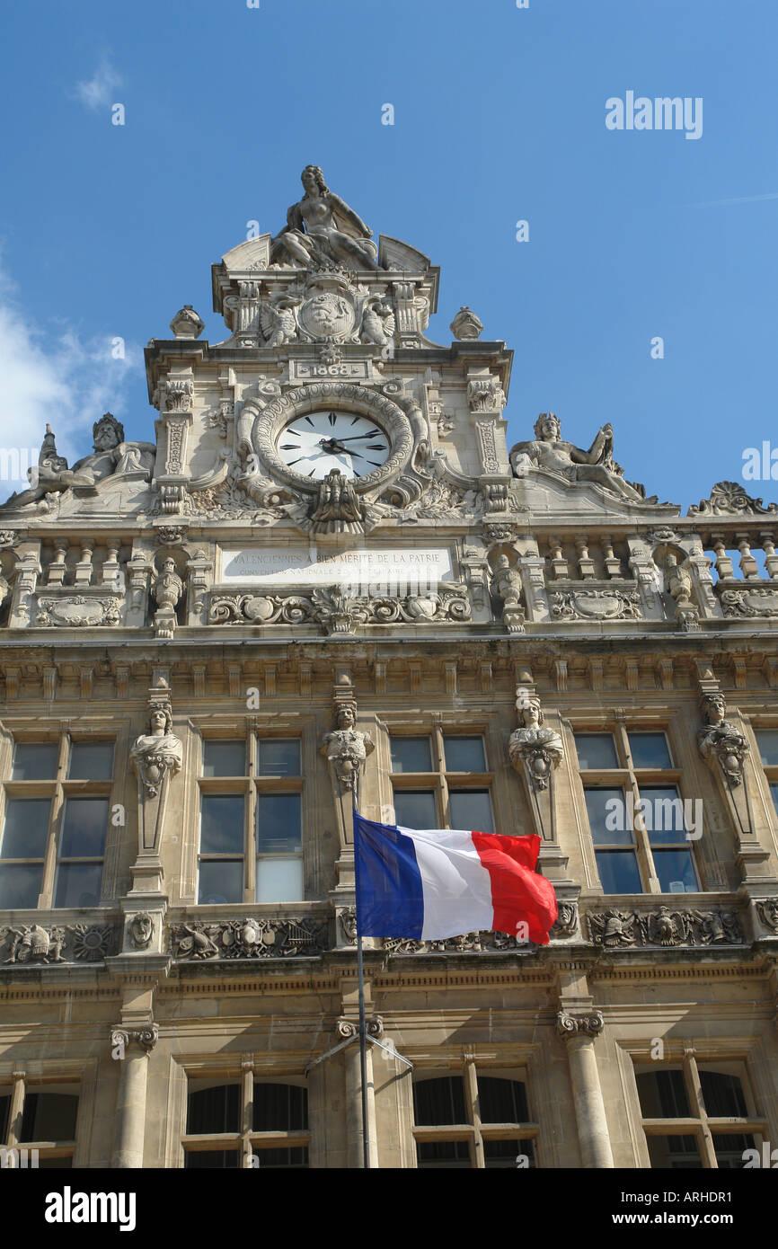 Façade of the cityhall of Valenciennes (Hainaut-France) Stock Photo