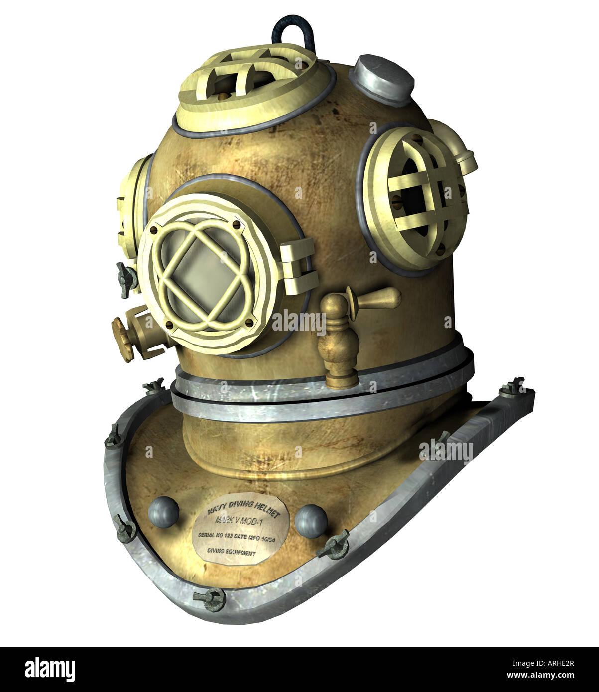 diving helmet - Stock Image