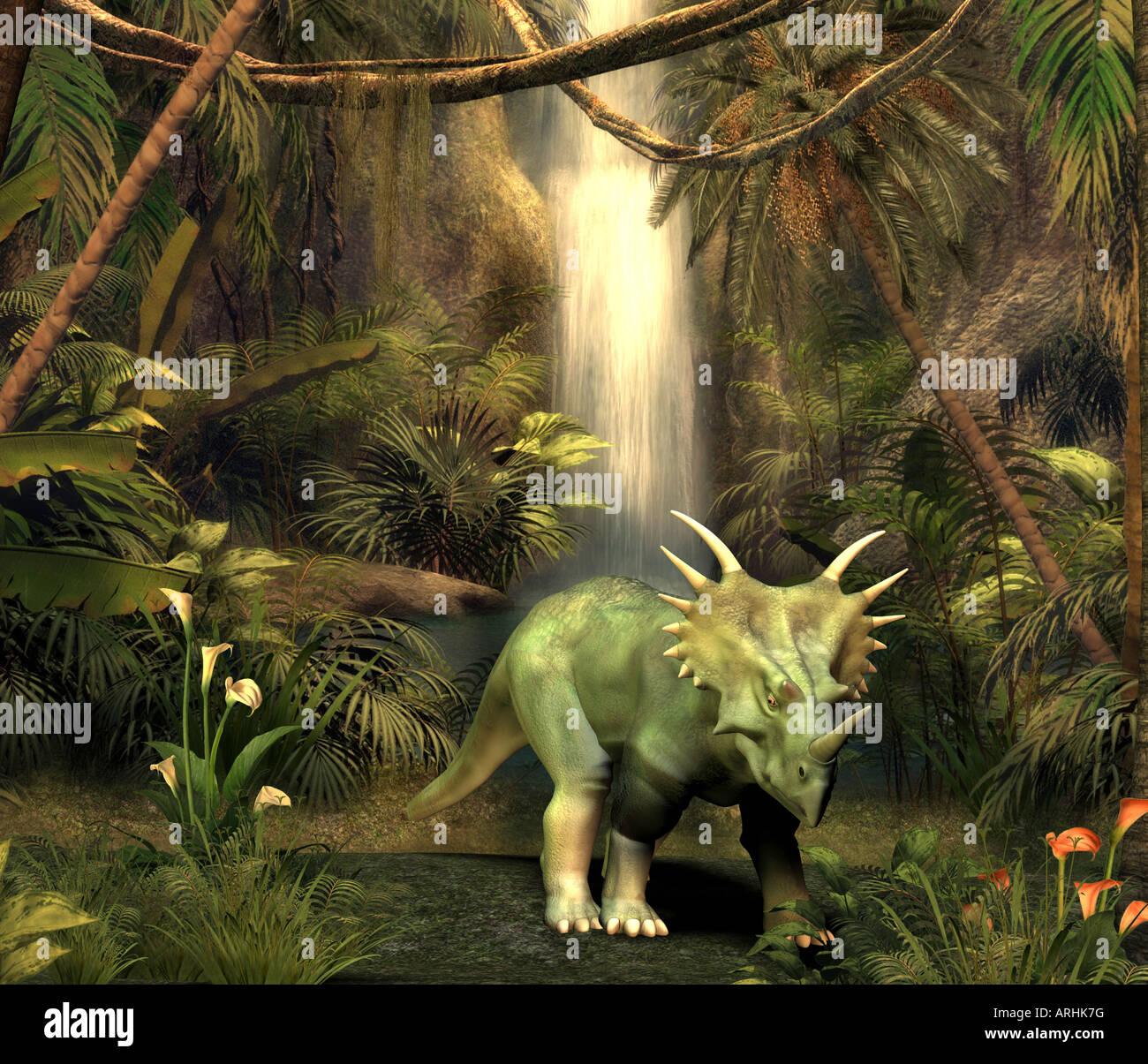 dinosaur StyracosaurusStock Photo