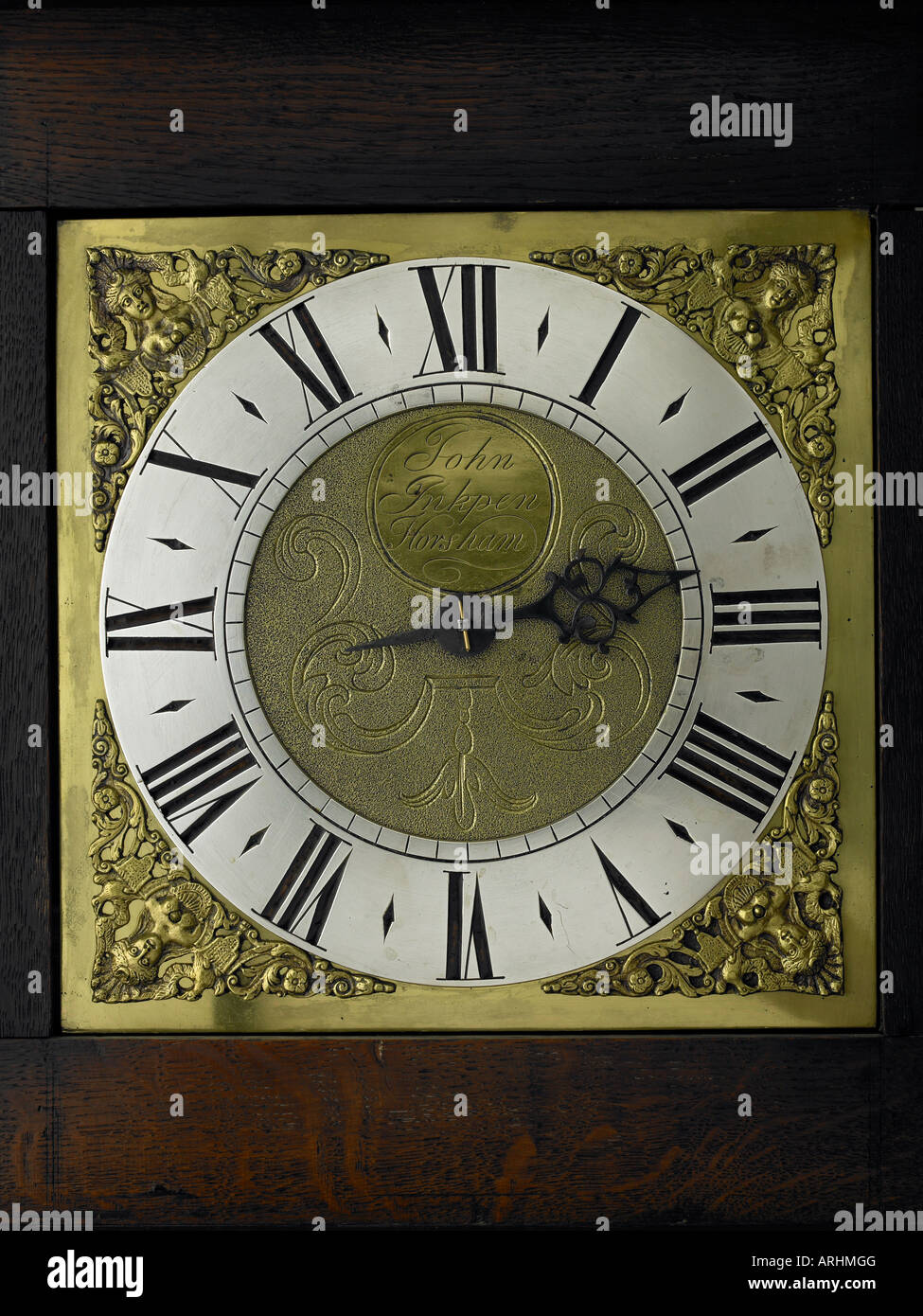A 30 hour longcase clock by John Inkpen of Horsham circa 1740 - Stock Image