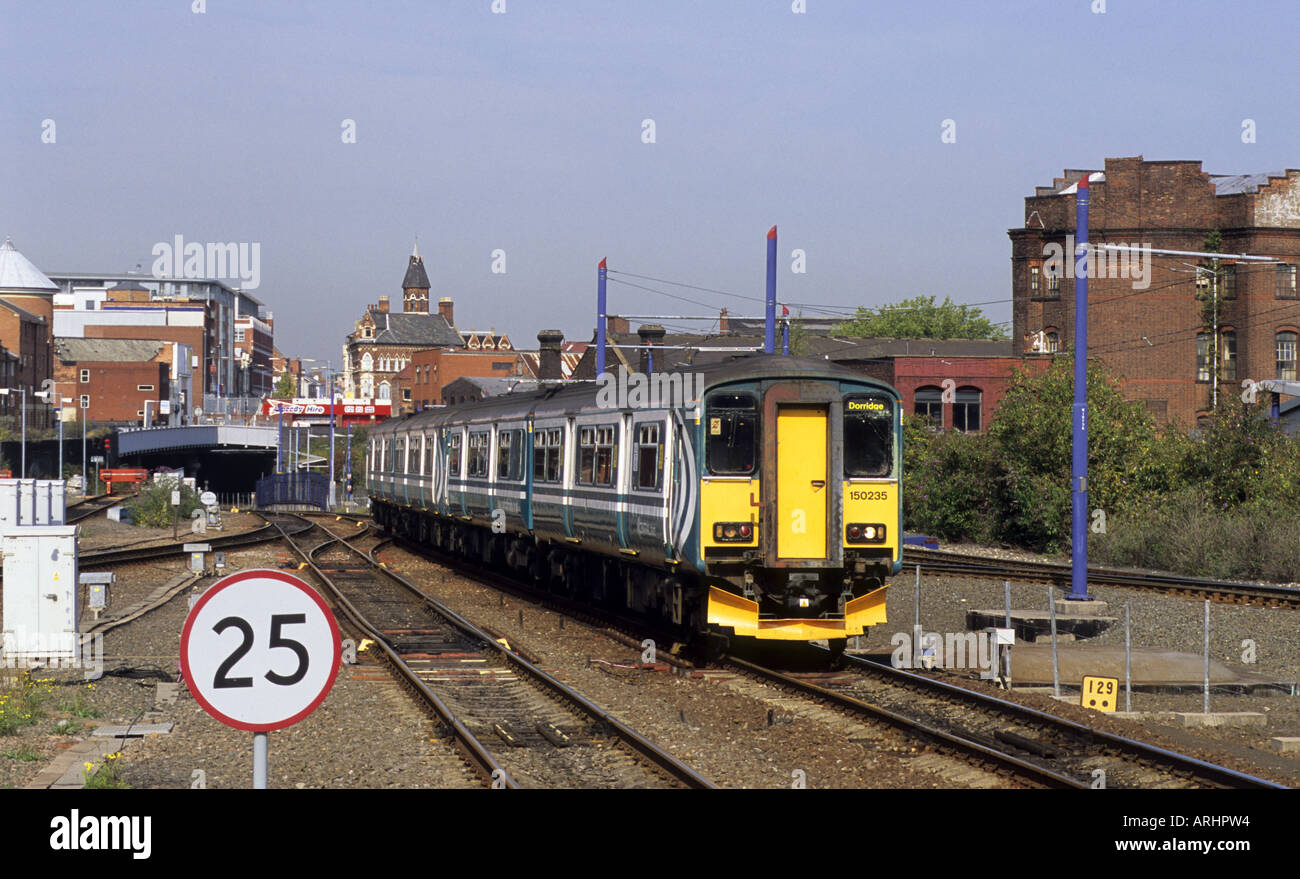 Central Trains service to Dorridge arriving at Birmingham Snow Hill station, West Midlands, England, UK Stock Photo