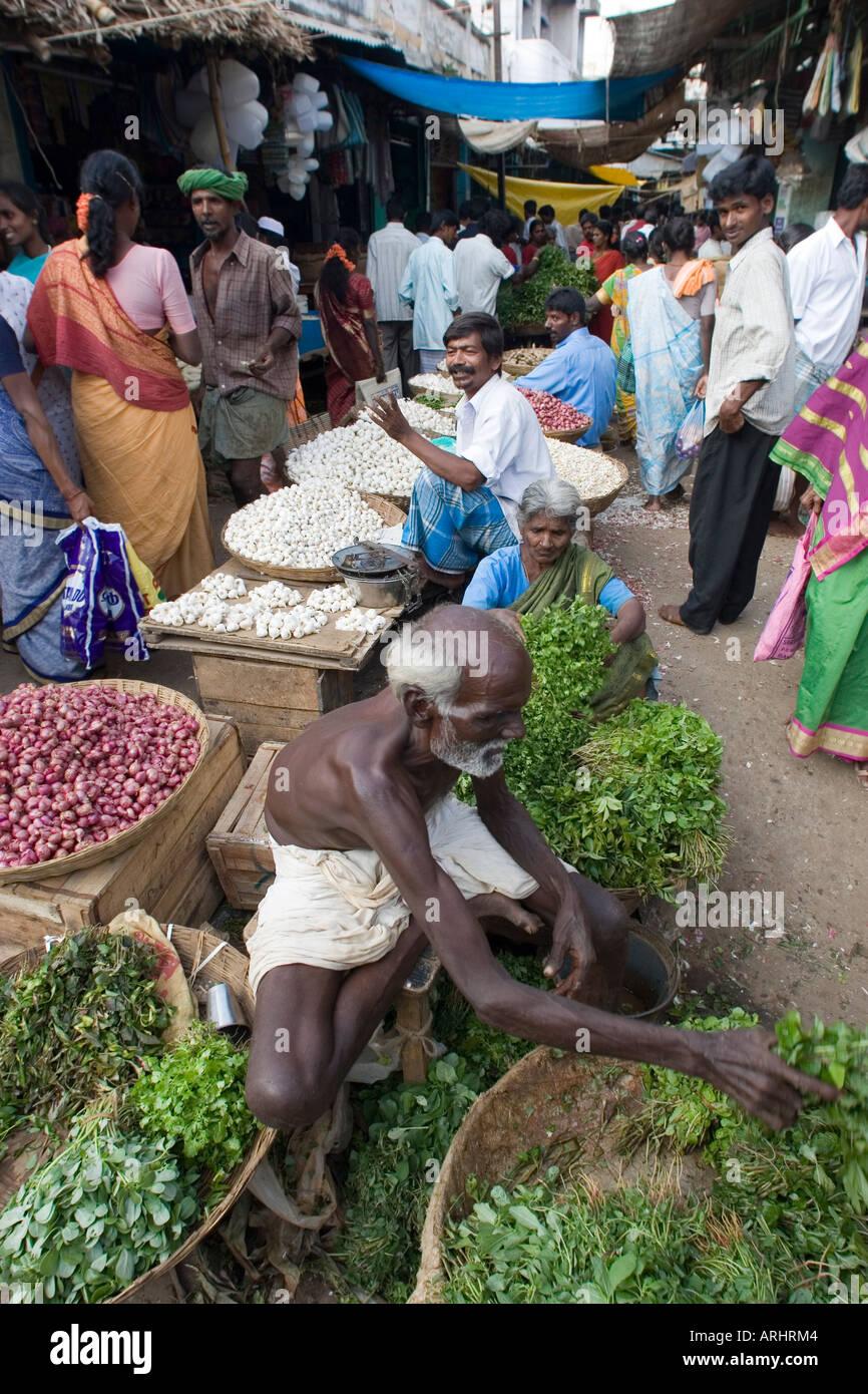 Open market, Tiruvannamalai, India. - Stock Image
