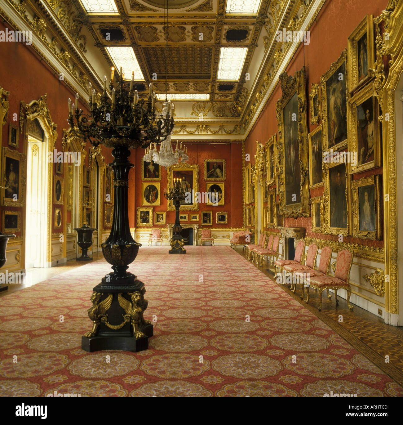 Waterloo Gallery Apsley House home of Duke of Wellington London England - Stock Image