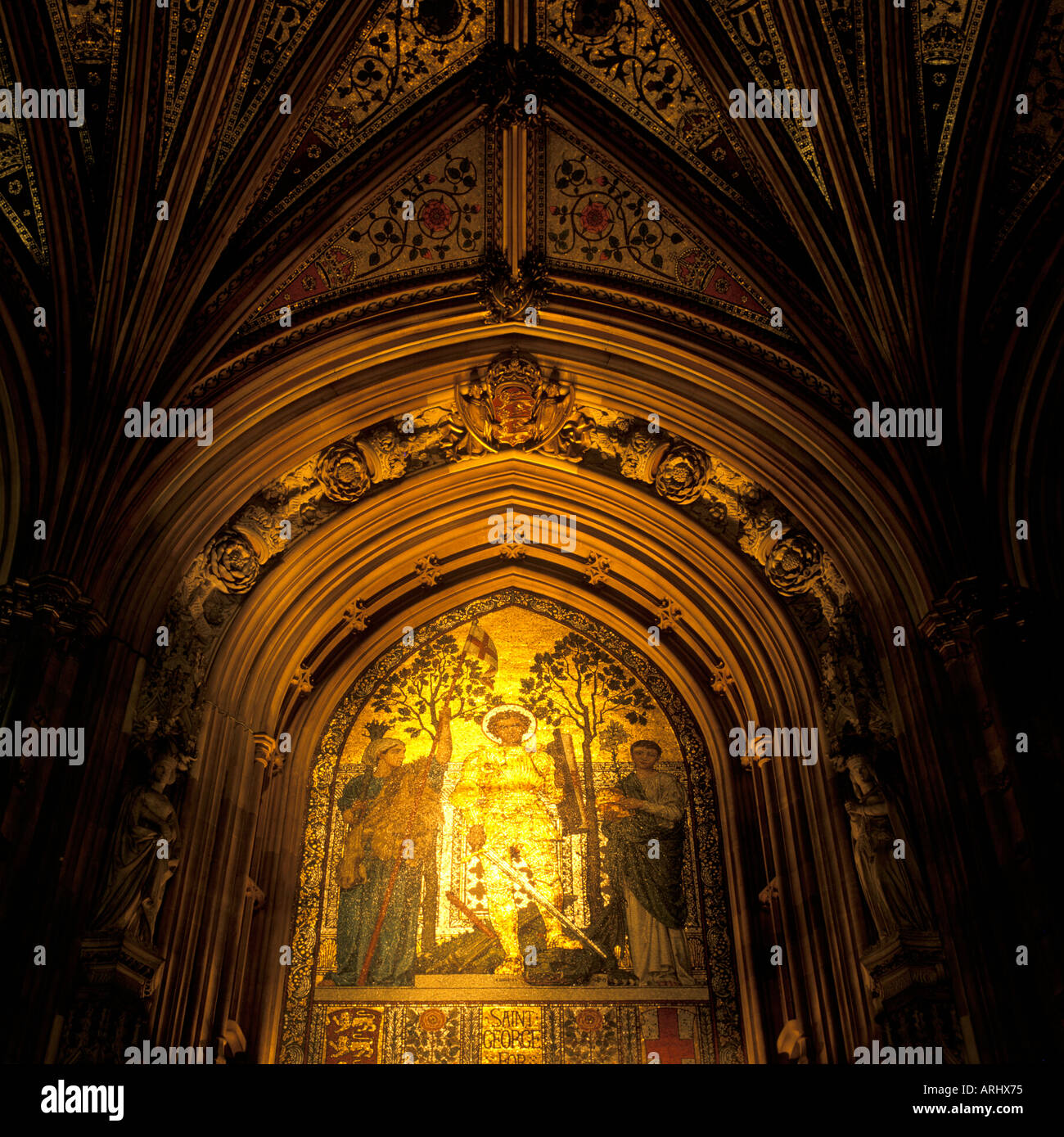 Central Lobby Palace of Westminster architects Barry and Pugin London England - Stock Image