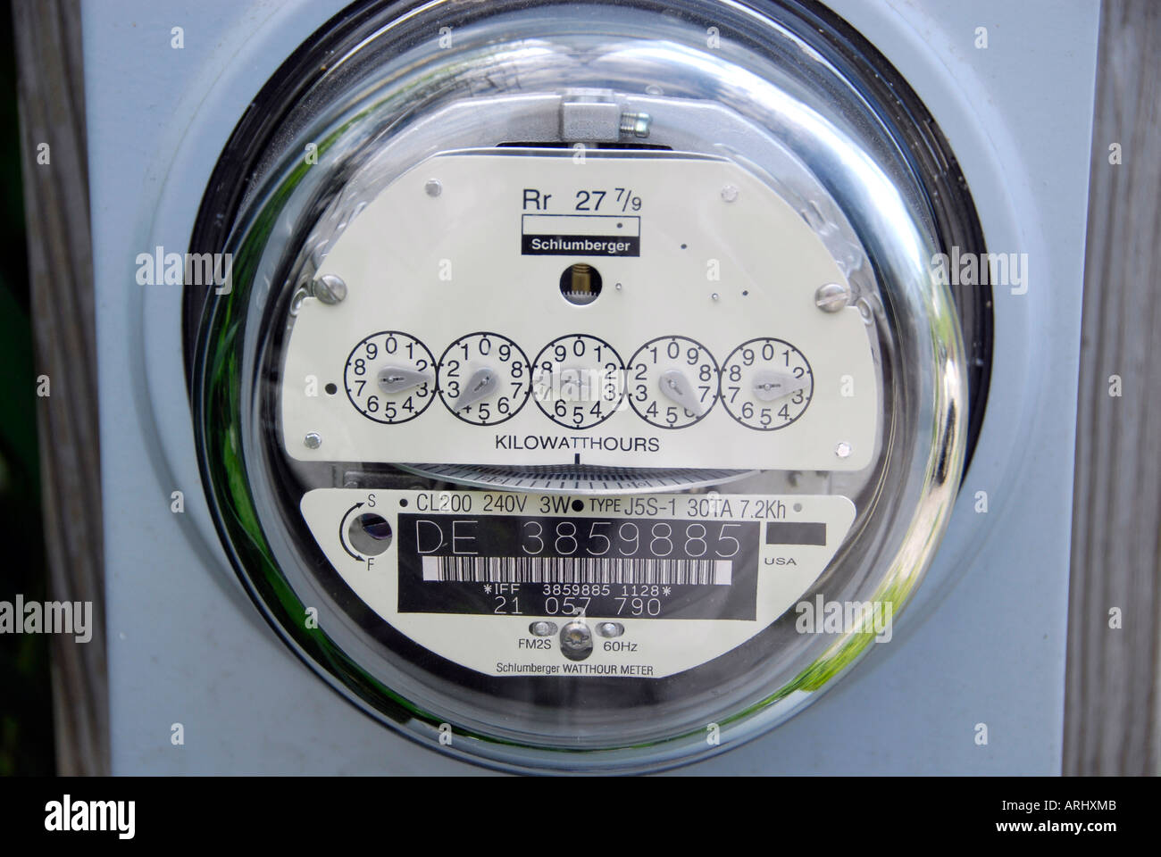 Residential electrical box meter measures the amount of electricity ...