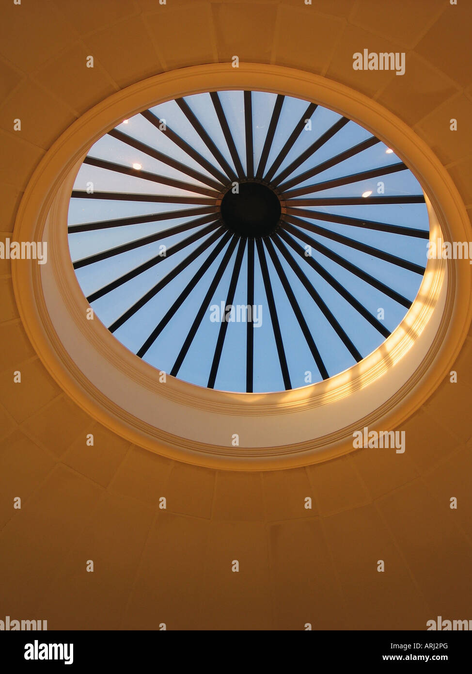 Oculus Of The Dome Room Of Thomas Jeffersons Monticello Stock Photo
