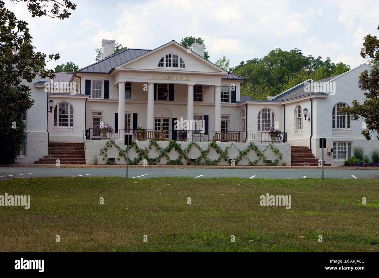 The University of Virginia's Alumni Hall located off of Emmett Street US 29 Business in Charlottesville VA - Stock Image