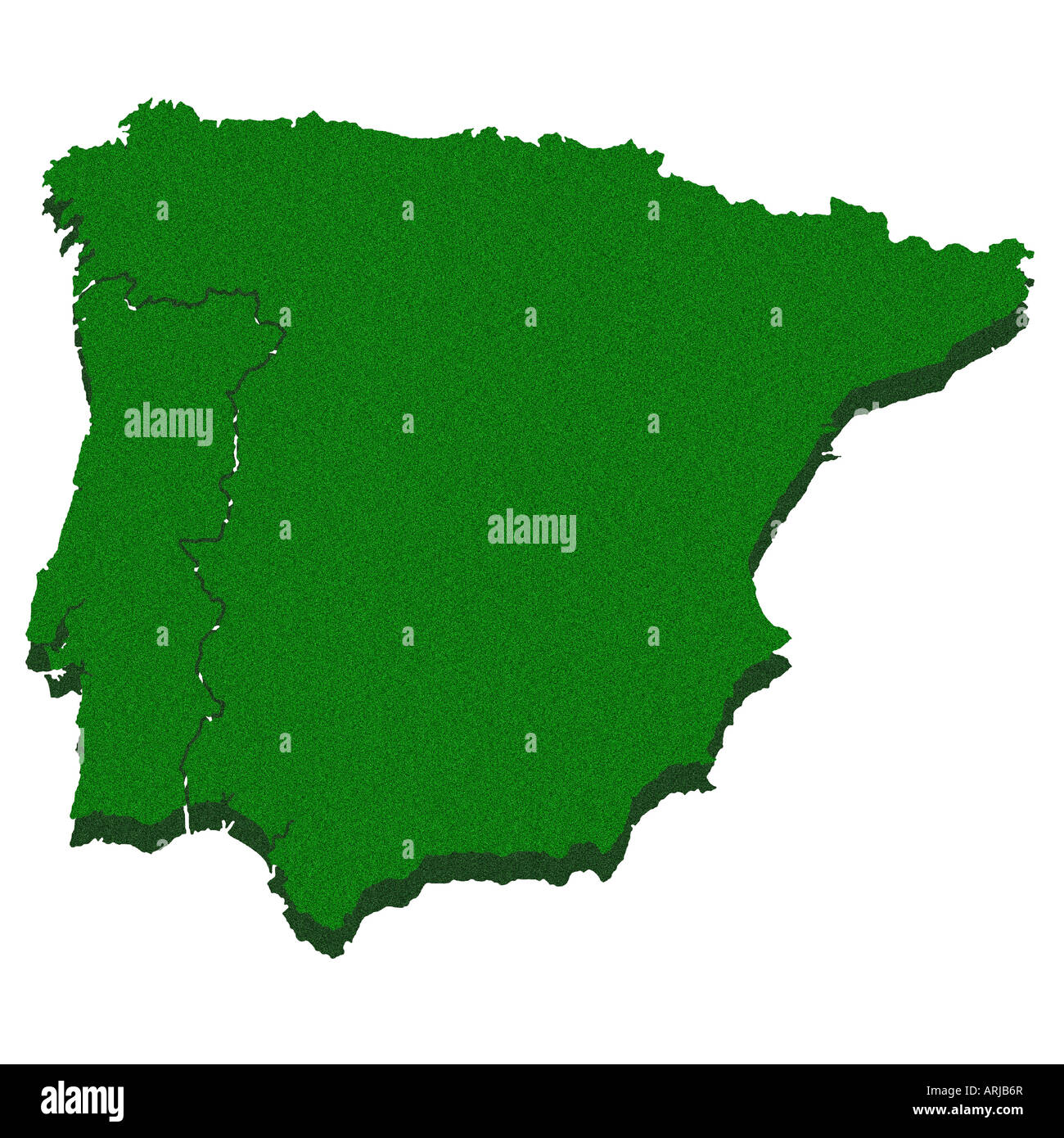 Image of: Outline Map Of Iberian Peninsula Stock Photo Alamy