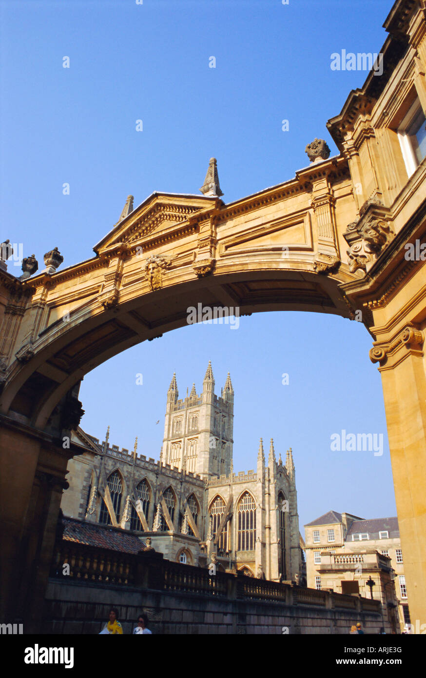 Bath Abbey, Bath, Avon & Somerset, England, UK - Stock Image