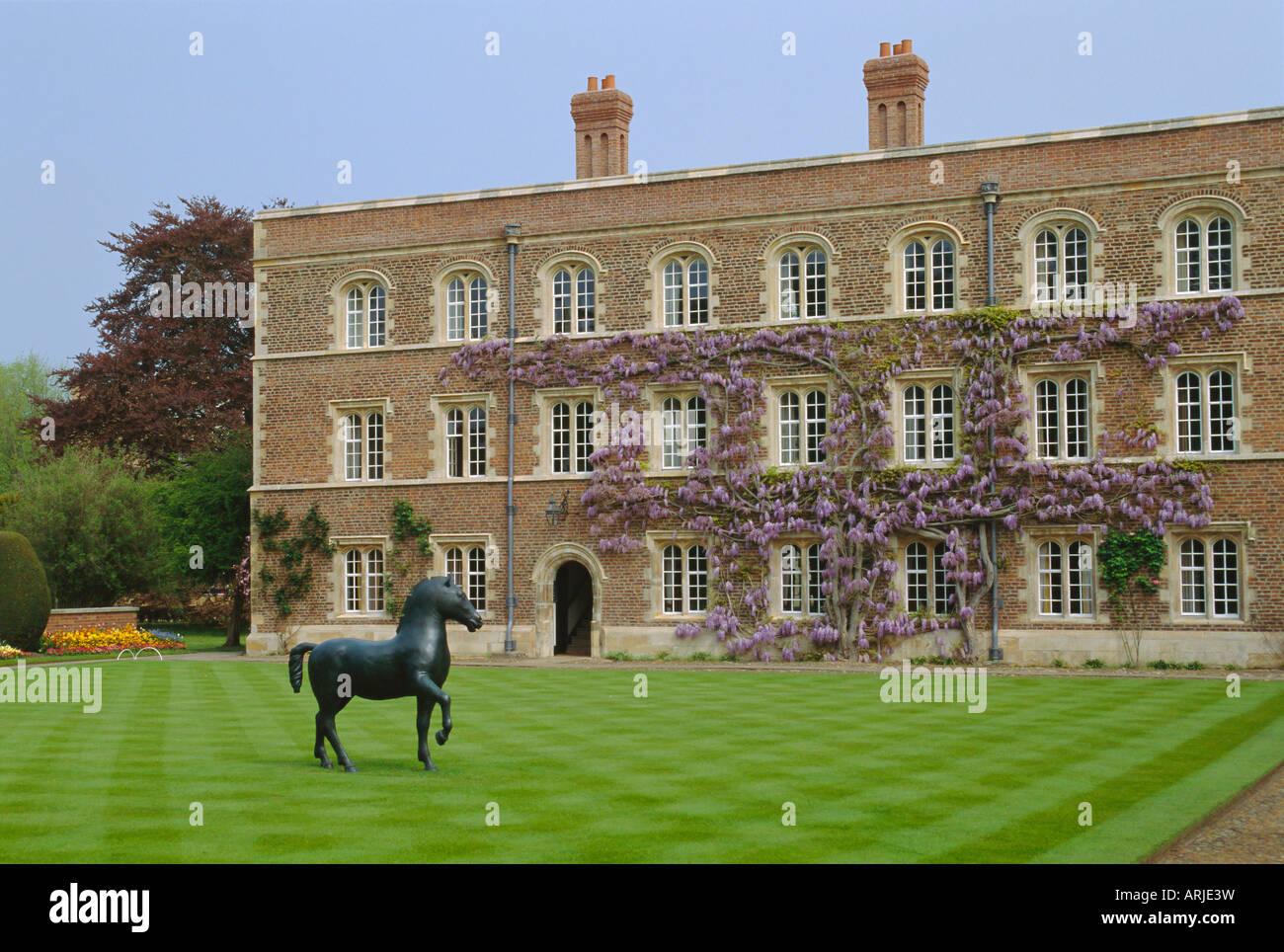 Jesus College, Cambridge, Cambridgeshire, England, UK - Stock Image