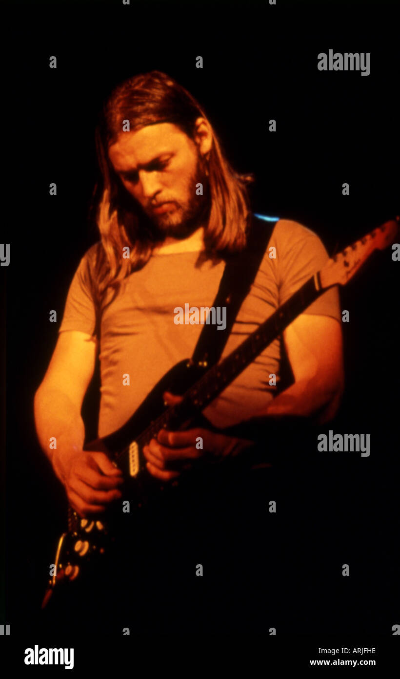 PINK FLOYD -  guitarist Dave Gilmour about 1978 - Stock Image