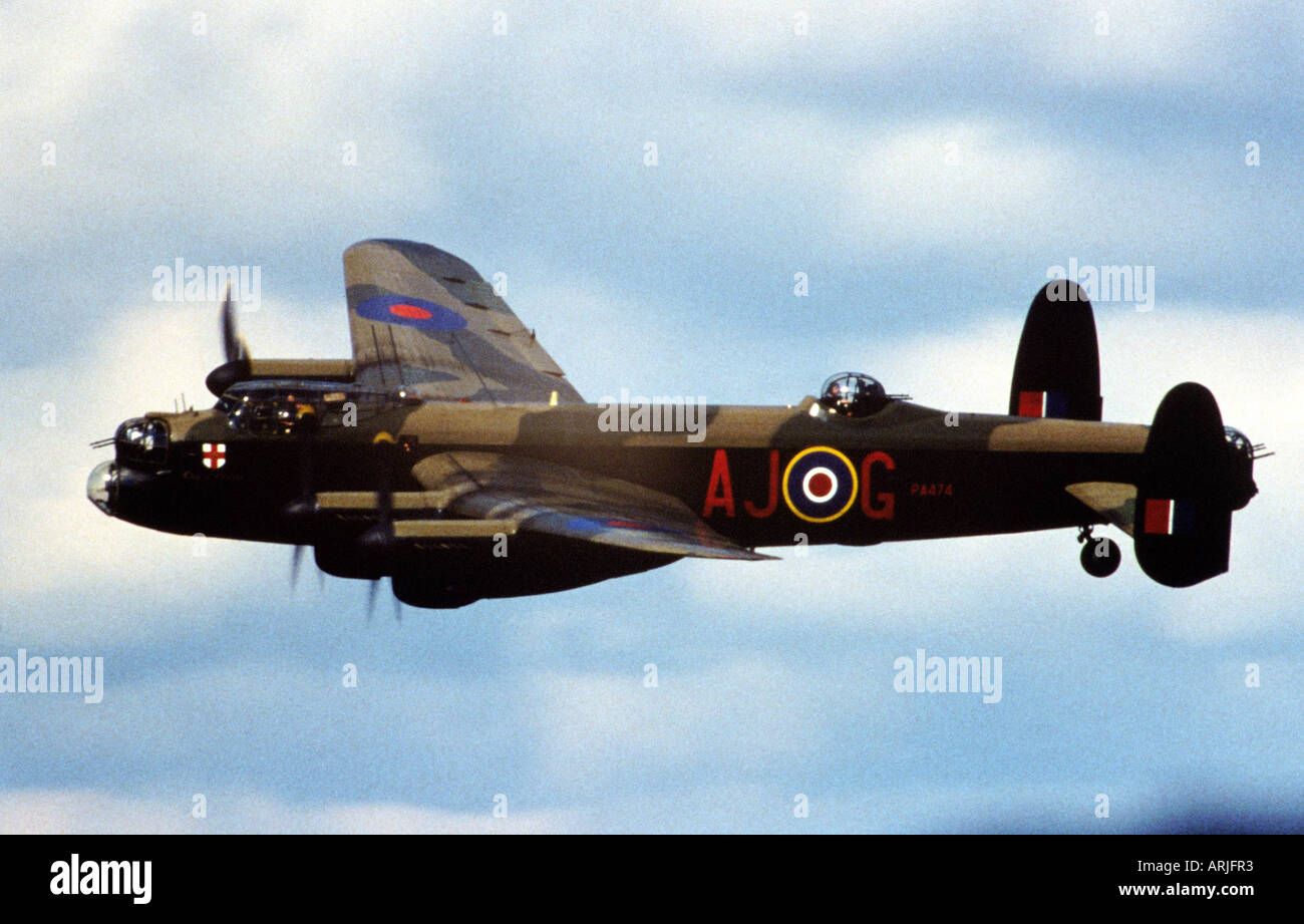 AVRO LANCASTER from the Battle of Britain Memorial Flight. The Lancaster was the main bomber of the RAF in World Stock Photo