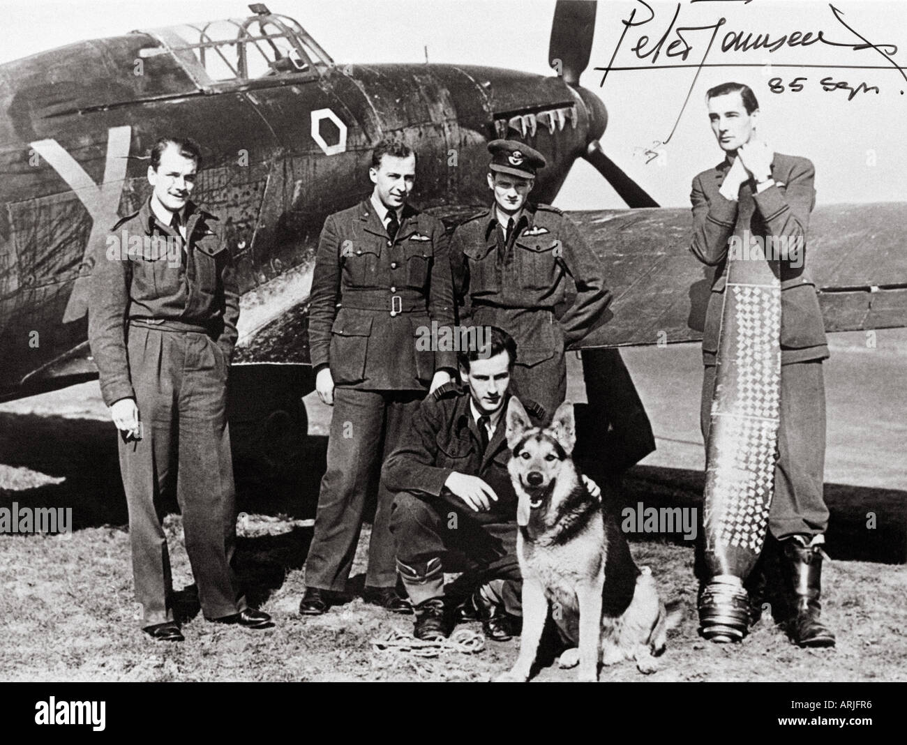 PETER TOWNSEND  RAF commander - see description below - Stock Image