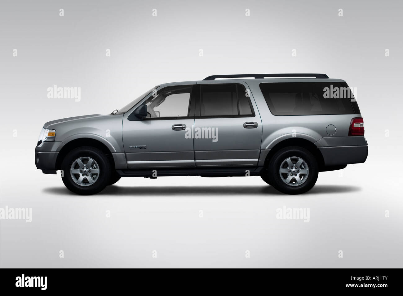 Ford Expedition El Xlt In Silver Drivers Side Profile