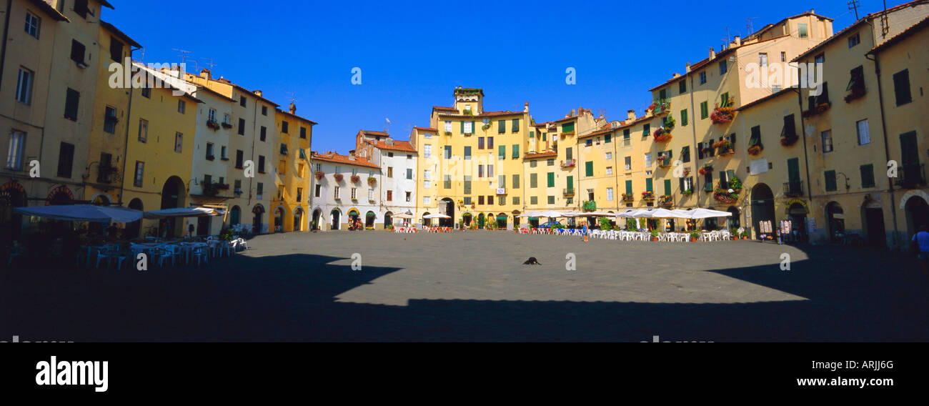 Piazza dell' Anfitearto Lucca, Tuscany, Italy, Europe - Stock Image