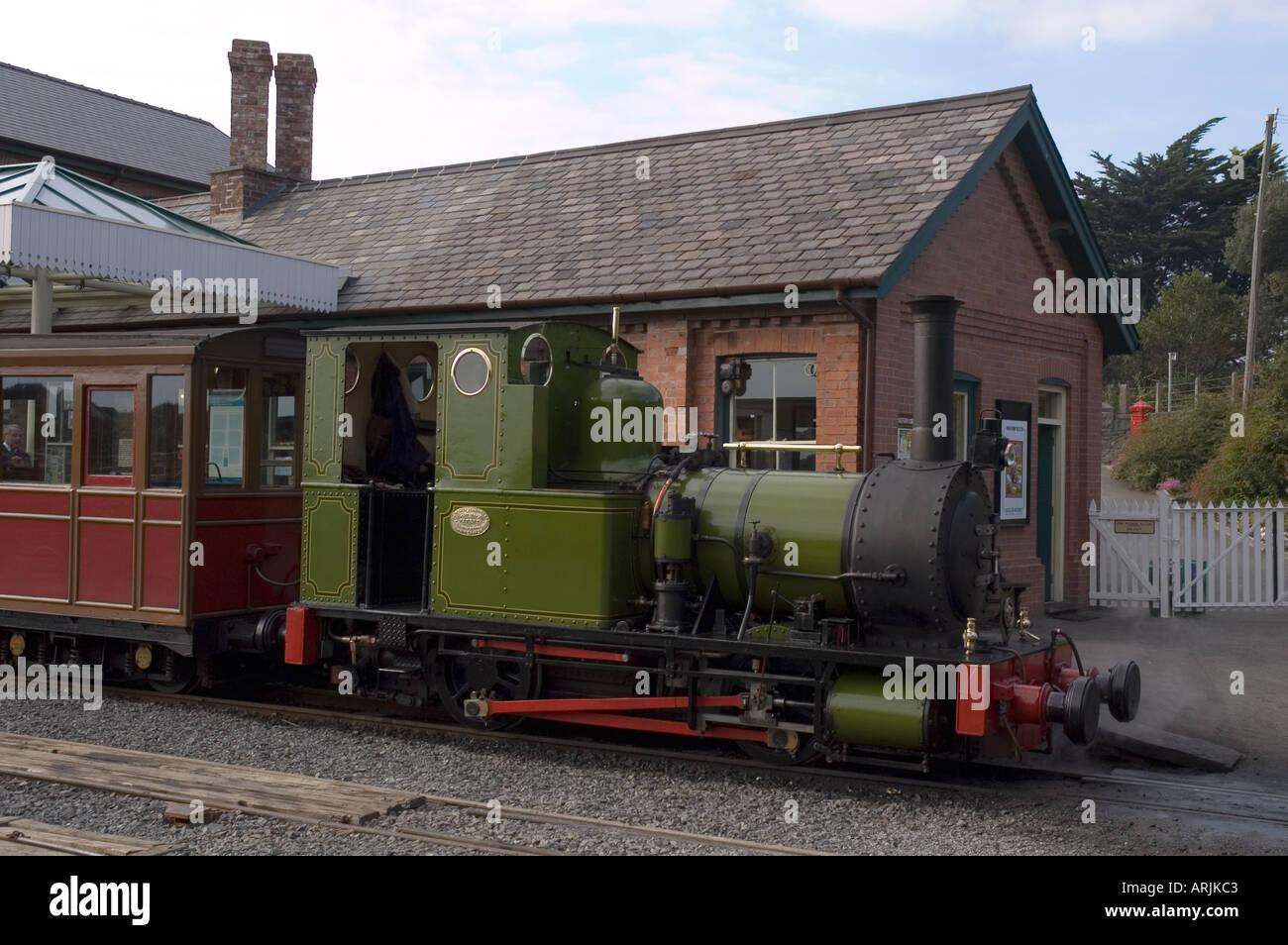 Talyllyn Railway - The Quarryman at Tywyn Station - Stock Image