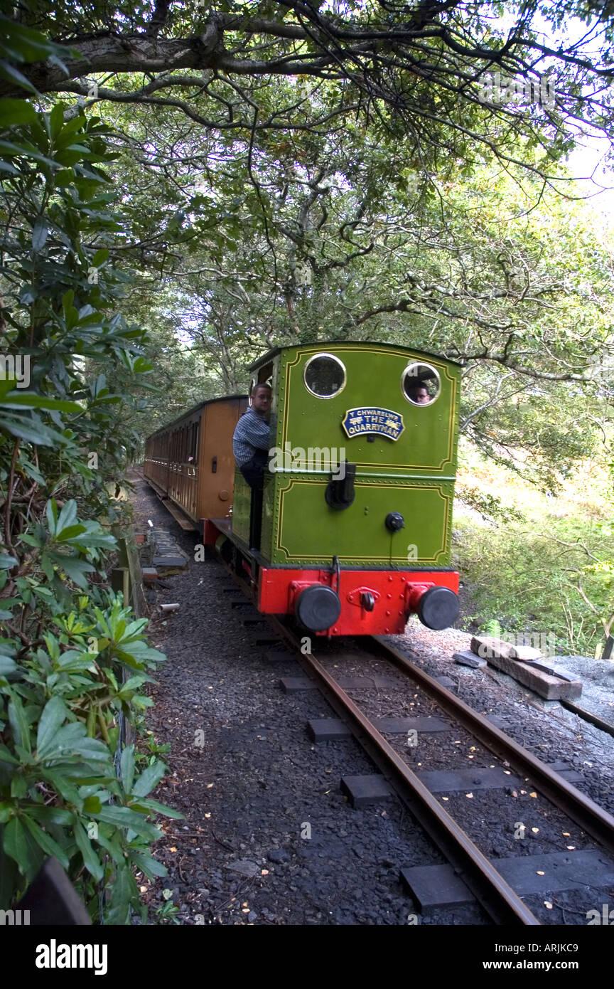 Talyllyn Railway - The Quarryman engine at Dolgoch - Stock Image