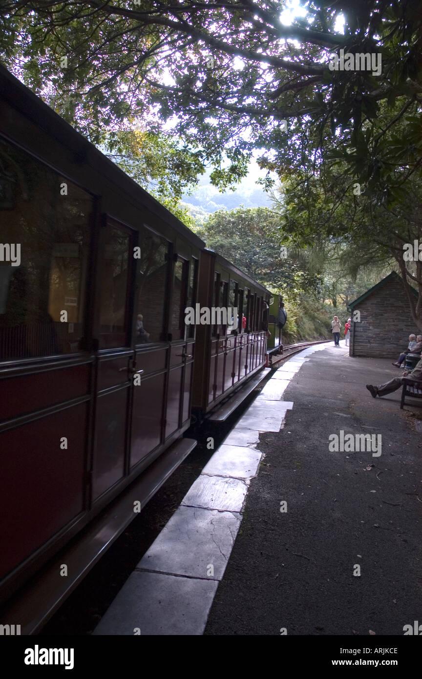 Talyllyn Railway - The Quarryman engine at Dolgoch Station - Stock Image