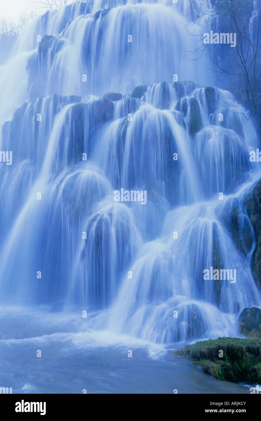 Waterfall, Les Messieurs, Jura-Baume, Franche-Comte, France, Europe - Stock Image