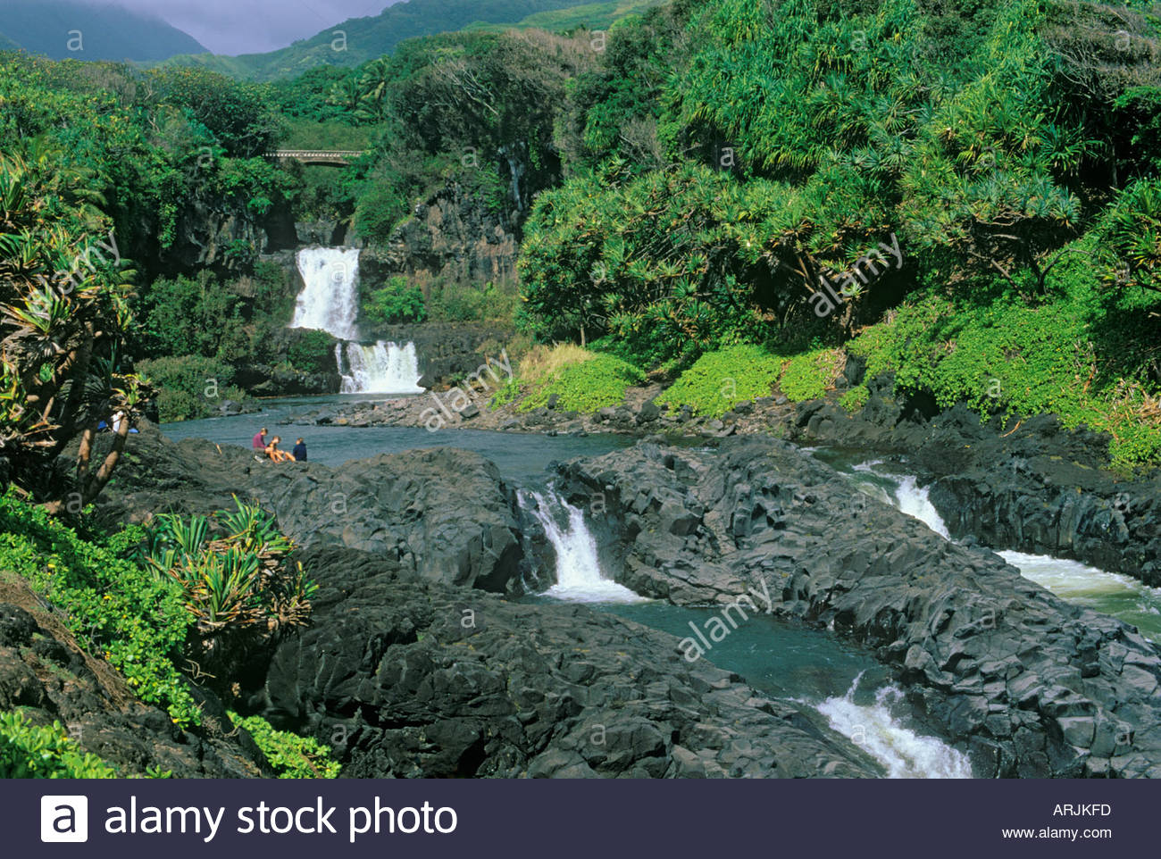 Ohe O Gulch And Seven Sacred Pools In Haleakala National Park Island Stock Photo Alamy