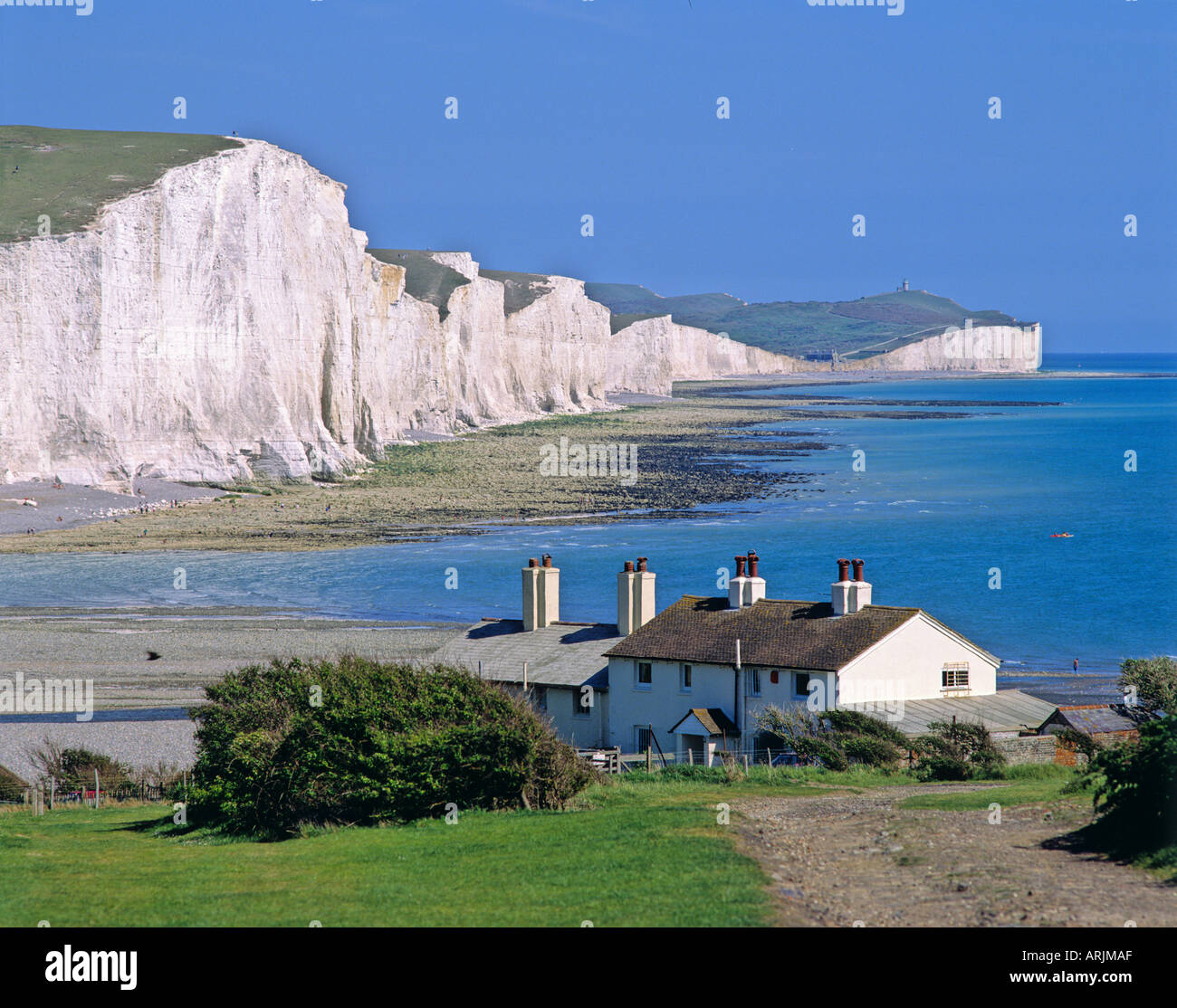 House In Seaford Head Overlooking The Seven Sisters Cliffs