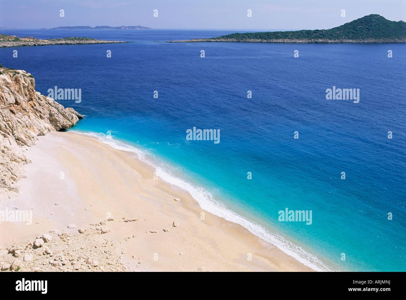 Beach, Kaputas, Lycia, Anatolia, Turkey, Asia Minor, Asia Stock Photo