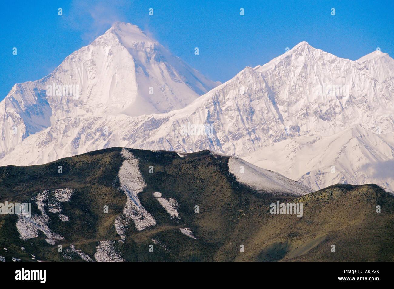 Annapurna range seen from MUKtinath, Nepal - Stock Image